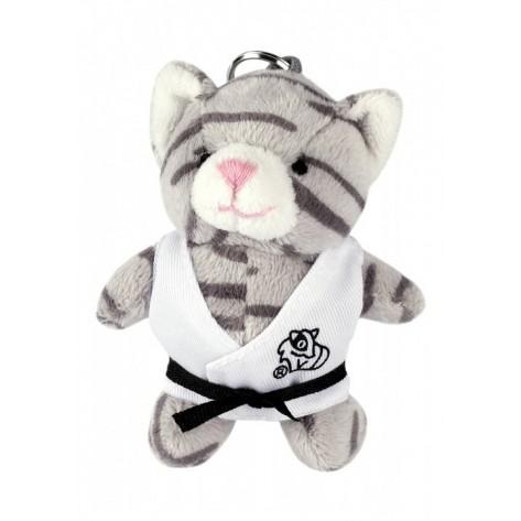 Plush Martial Arts Cat Keychain