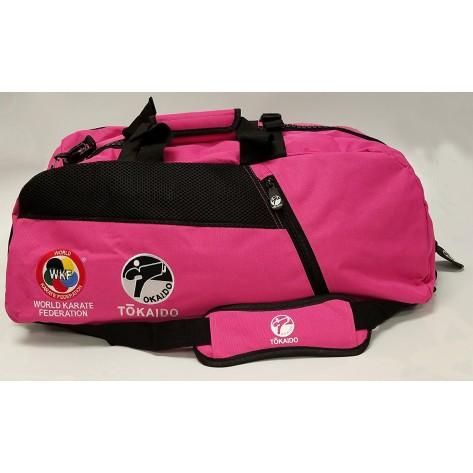 Tokaido Karate WKF Big Zipper Pink Bag