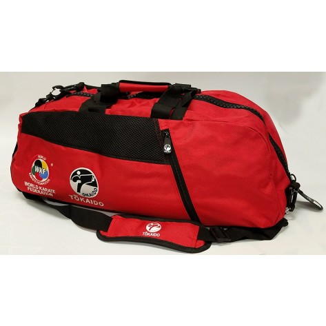 Tokaido Karate WKF Big Zipper Red Bag