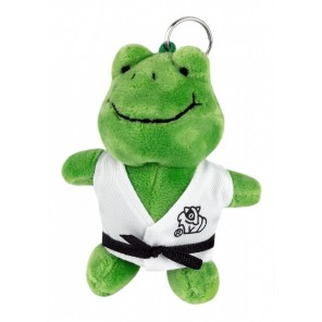 Plush Martial Arts Frog Keychain