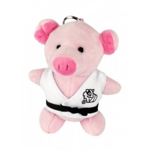 Plush Martial Arts Pig Keychain