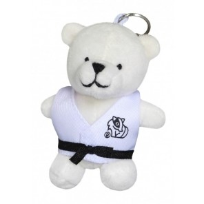 Plush Martial Arts Polar Bear Keychain