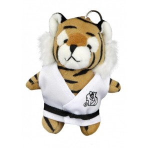 Plush Martial Arts Tiger Keychain