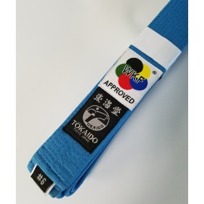 Tokaido WKF Sky Blue Karate Belt