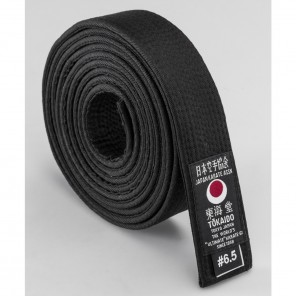 "Tokaido Black Cotton Belt, 1.75"""