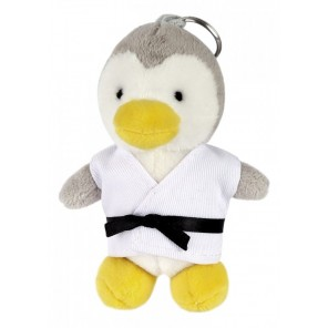 Plush Martial Arts Penguin Keychain