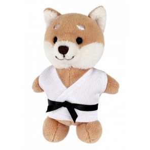 Plush Martial Arts Shiba Inu Dog Keychain