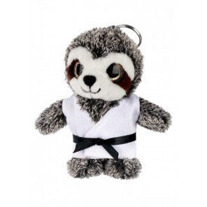 Plush Martial Arts Sloth Keychain