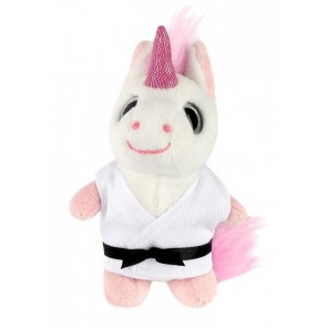 Plush Martial Arts Unicorn Keychain
