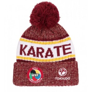Tokaido Karate WKF Red Winter Beanie