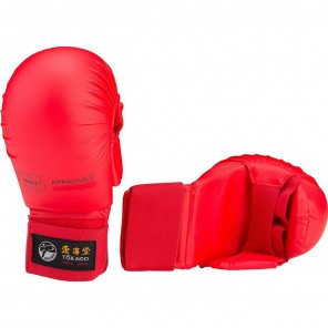 Tokaido Karate WKF Sparring Gloves Red with Thumb